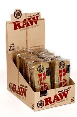 RAW Cone Caddy 1 1/4 - Case 8 Containers - Storage Metal Box Stash 1.25 Classic