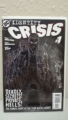 Identity Crisis # 1 - 2nd Print Inverted White and Black sketch cover