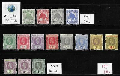 WC1_521 GILBERT & ELLICE ISLAND - Lot of 1911-1912 stamps. Mint/Used