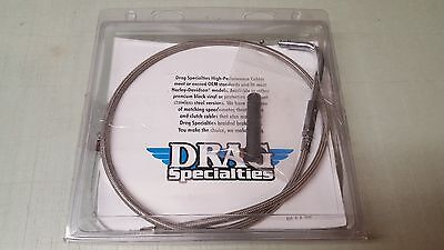 """Drag Specialties Stainless Braided Idle Cable 30-3/4"""" Harley Davidson 0651-0099"""