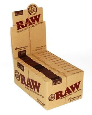 RAW Connoisseur Classic 1.25 Rolling Paper + Tips - 10 PACKS - 1 1/4 Papers