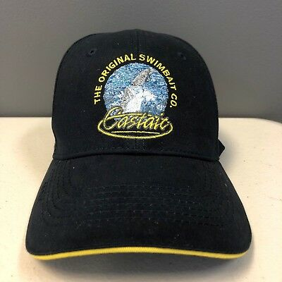 Castaic Yellow Logo Navy Blue Baseball Cap - Branded Fishing Apparel