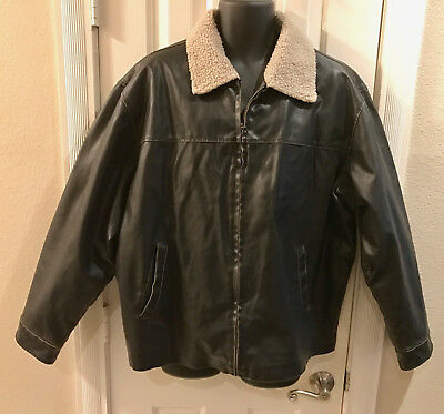 ca9c24c8e5148 New Magellan Sportswear Brown Faux Leather/Fur Collar Bomber Style Jacket,  2XL