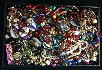 Large Lot of Vintage & Contemporary Costume Jewelry – Six+ Pounds Unsearched