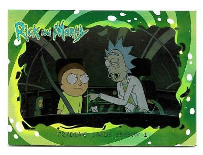 2018 Cryptozoic Rick and Morty Trading Cards Season 1 Silver Foil Board #01