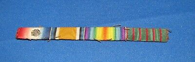WWI British Mons Star Ribbon Bar, Croix de Guerre, Great Condition Uni Removed