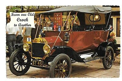 Postcard FROM ONE OLD CROCK TO ANOTHER Old Car Valentine Printers PM 1969 UK
