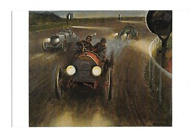 Postcard Brighton Beach 24 Hour Race July 30-31 1909 Car No 3 c 1974 Peter Helck
