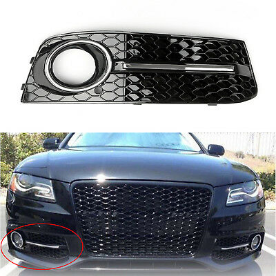 RH Chrome Honey Comb Fog Light Cover Parrilla de calandre Pour Audi A4 B8 B7