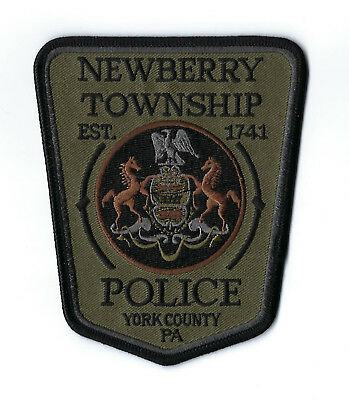 Newberry Twp. (York County) PA Pennsylvania Police SUBDUED Olive & Black patch