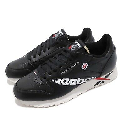 6c60a980f4b Reebok Classic Leather Altered MU Black White Red Men Shoes Sneakers DV5016