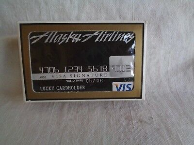 Alaska Airlines playing cards  Visa credit card Lucky Cardholder  box