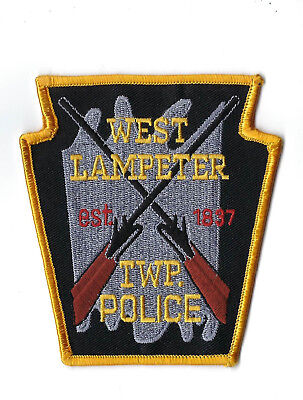 West Lampeter Twp. (Lancaster Co.) Pennsylvania Police patch - NEW! *Cloth Back*