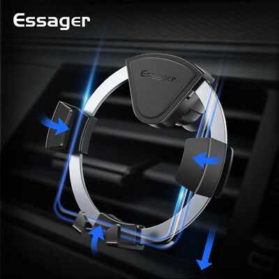ESSAGER Car Phone Holder Air Vent Mount Mobile Phone Stand For iPhone Samsung
