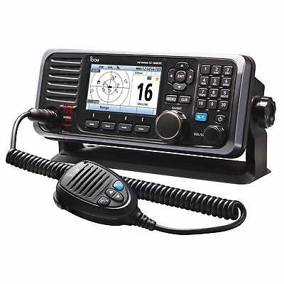 Icom M605 VHF Radio w/Color Display Front & Rear Mic Connector Fixed Mount 25W