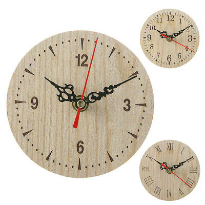 Vintage Rustic Wooden Wall Clock Antique Retro Home Kitchen Room Decor Use Hot