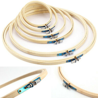 4-6pcs Wooden Cross Stitch Machine Embroidery Hoop Ring Bamboo Sewing 4-10 inch