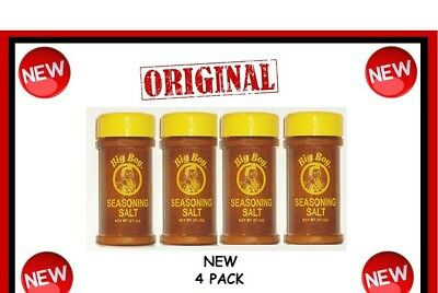 4 Bobs ORIGINAL BIG BOY Seasoning salt spice authentic LOT New great on wings @