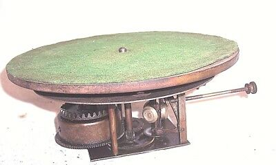 Early Single Spring Disc Phonograph Motor And Bed Plate
