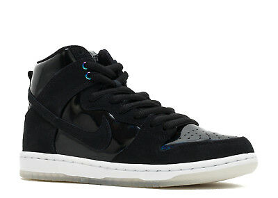 6c1fc23ff5a2 Nike Sb Zoom Dunk High Pro Iridescent Black White Clear 854851 001 Size 11.5