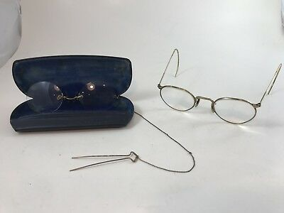 Vintage Steampunk Glasses Antique Circle Lens two pairs Movie Theatre Props