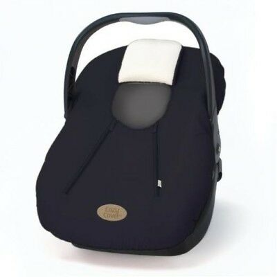 Cozy Cover Infant Car Seat Carrier Black And White Fleece Lined EEUC