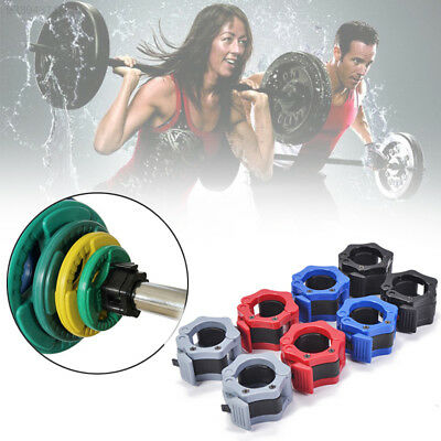 45F5 50mm Weight Bar Collar Clamp Lock Barbell Sports Accessory Random Color