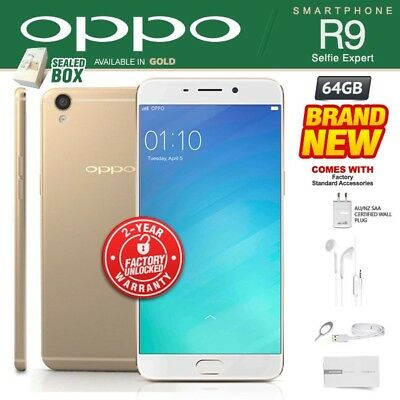 New & Sealed Factory Unlocked OPPO R9 Gold 64GB Dual SIM 4G Android Smartphone