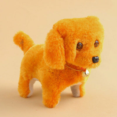 Cute Barking Walking Electronic Moving Plush Dog Puppy Toy Kids Gifts Funny 1PC
