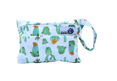 Cactus Mini Wet Bag - Waterproof Reusable for Mama Cloth & Menstrual Pads NEW!