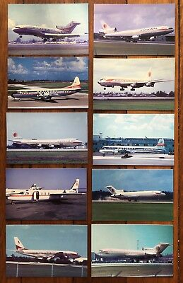 NATIONAL AIRLINES - Post Cards - Aeroplane Airplane Postcard 747 Aircraft Plane