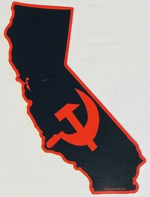 "Commiefornia - Communist California Quality Bumper Sticker Decal 4.3""x 5.3"""