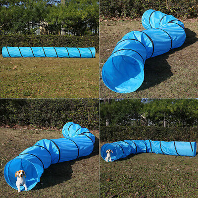 16' Dog Agility Obedience Play Fun Toy Exercise Training Tunnel with Carry Bag