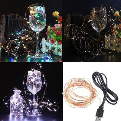 USB Connector LED String Fairy Light 10m/33ft 100led Copper Wire Christmas Lamp