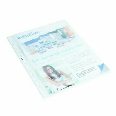 Initiative Reinforced Pockets A4 Clear Bag qty 100 Pack pf1131 clear embossed