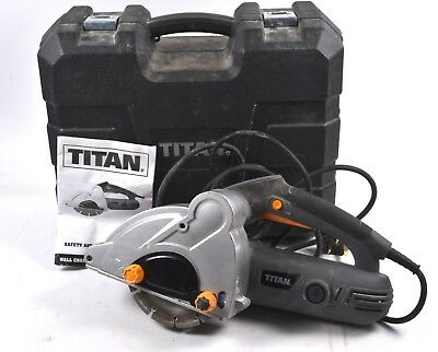 Titan TTB293WCH Corded 230-240v Wall Chaser (With Case) *DIY Equipment