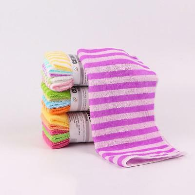 5pcs Kitchen Colourful Towels Dining Stripe Tower Cloths Square Micro-Fiber