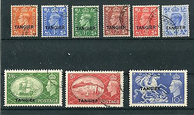 Morocco Tangier KGVI 1950-51 definitives set of 9 SG280/8 fine used