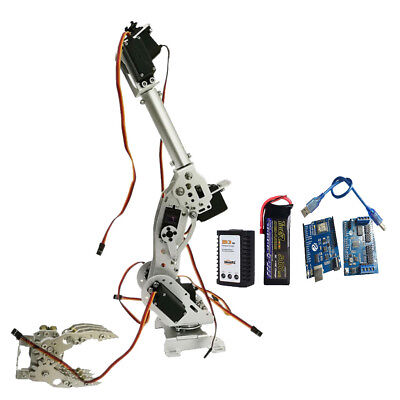 WIFI Metal 8 DOF Robot Arm Gripper Kit High Torque Servo Power Suite Silver