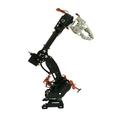 WIFI Metal 8 DOF Robot Arm Gripper Kit High Torque Servo Power Suite Black