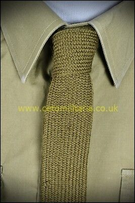 Tie, Khaki No2 Wool, British Army (Used)