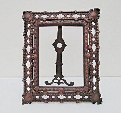 Antique Brass / Copper Late 19th Century Aesthetic Movement Photo Picture Frame