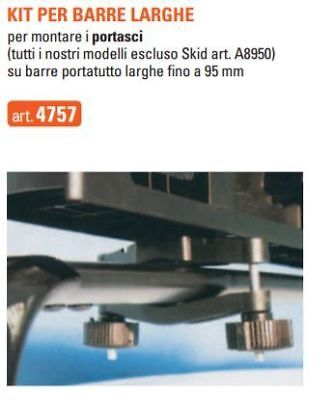 Kit per fissaggio portasci alle barre portatutto larghe fino a 95mm Gev cod.4757