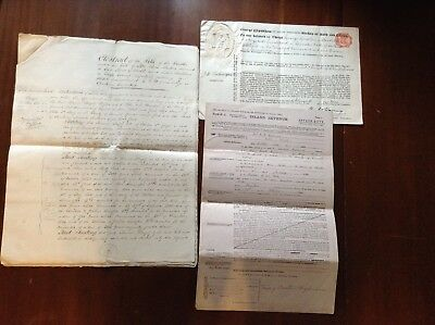 Somerset family history documents lot Crewkerne/Chard area 19th/20th century