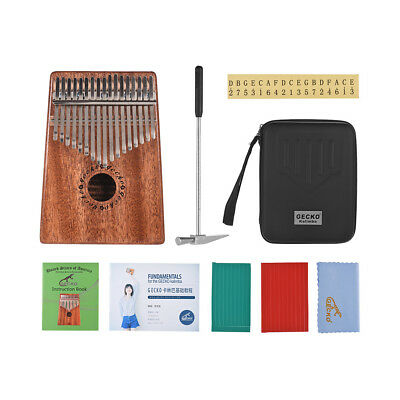 GECKO17-key Kalimba Thumb Piano Solid Wood w/Accessories Musical Gift S3S9