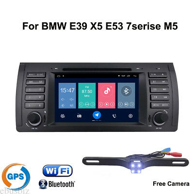 For BMW E39 X5 E53 Qual Core Android8.1 Stereo  DVD Player Radio GPS WIFI 4G BT