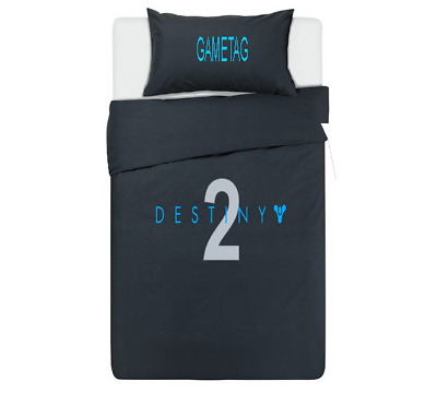DESTINY 2 Personalised DUVET COVER BEDDING SET ** BLACK ** PS4 / XBOX ONE