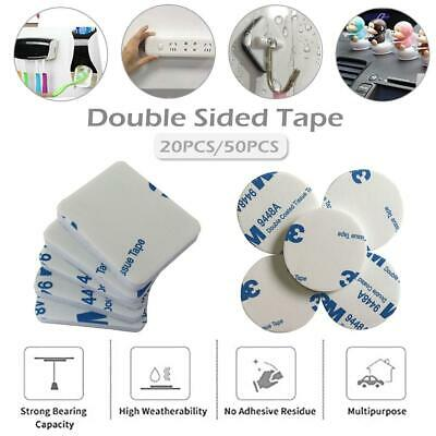 20/50Pcs Double Sided Tape Self Adhesive Pad 40mm Round/Square EVA Mounting Foam