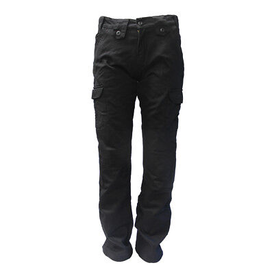 Bull-it Ladies Black Cargo Motorcycle Covec Lined Trousers 17 SR6 Easy Fit