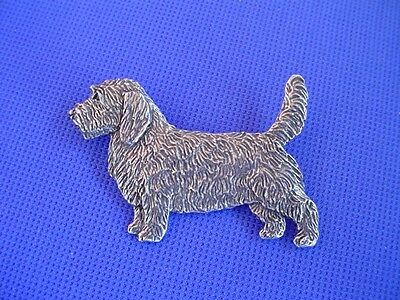 Petit Basset Griffon Vendeen Pewter Pin #91A Pewter jewelry by Cindy A. Conter